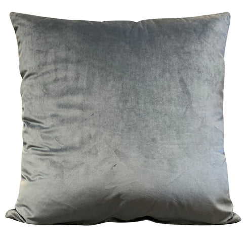 Anthracite Velluto Velvet 56cm x 56cm Cushion