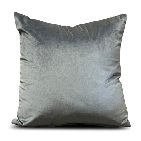 Anthracite Velluto Velvet 40cm x 40cm Cushion