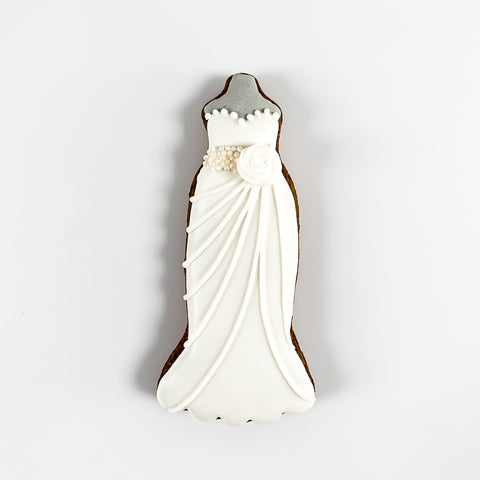 Wedding dress medium-sized biscuit