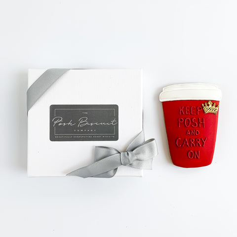 Keep Posh & Carry On single biscuit gift box