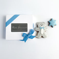 Posh Teddy single biscuit gift box