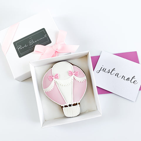 Posh Balloon single biscuit gift box