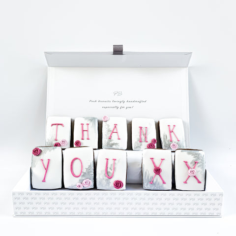 Posh Pink Thank You luxe magnetic box