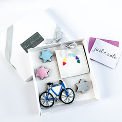 Personalised Rainbow Biscuit Card medium gift box