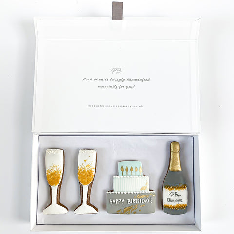 Posh Gold Happy Birthday luxe magnetic box