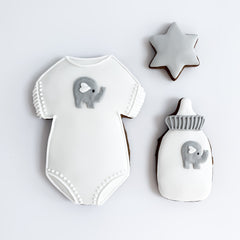 Posh Elephant Baby Set small gift box