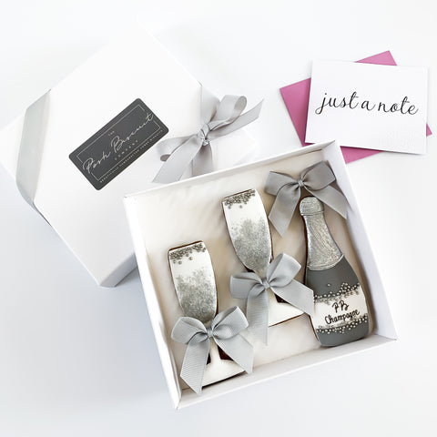 Posh Champagne Set small gift box