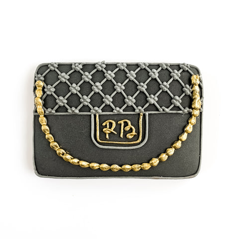 Posh Clutch Bag & Gold Chain single biscuit gift box