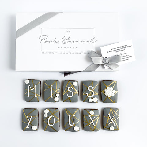 Posh Gold Miss You luxe magnetic box