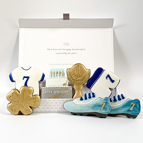 Happy Sporty Birthday luxe A4 magnetic box