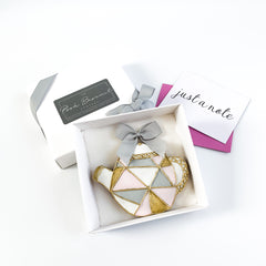 Posh Modern Teapot single biscuit gift box