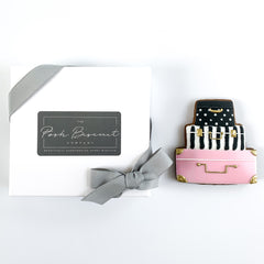 Posh Suitcase single biscuit gift box