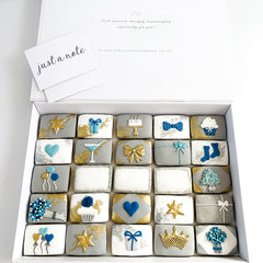 Posh Blue Surprise luxe A4 magnetic box