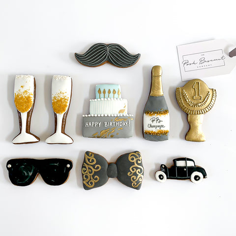 Posh Gentleman Happy Birthday luxe A4 magnetic box
