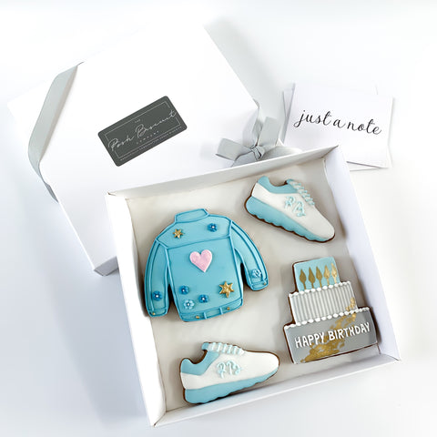 Happy Birthday Denim Jacket Set medium gift box