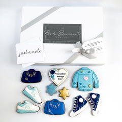 Posh Blue Denim Jacket luxe A4 magnetic box