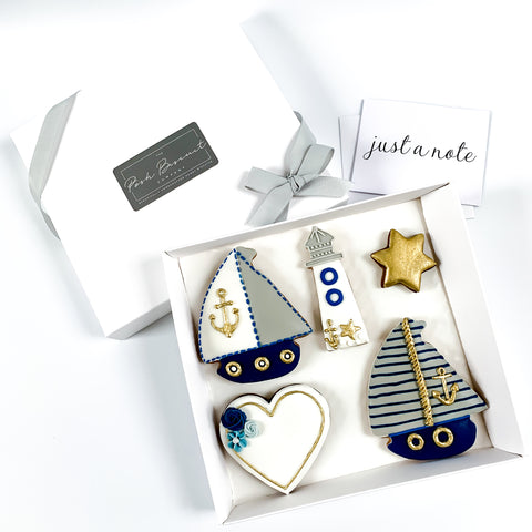 Personalised Posh Boat Set medium gift box