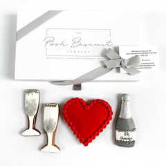 Personalised Heart and Champagne luxe magnetic box