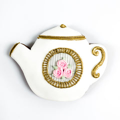 Posh Teapot single biscuit gift box