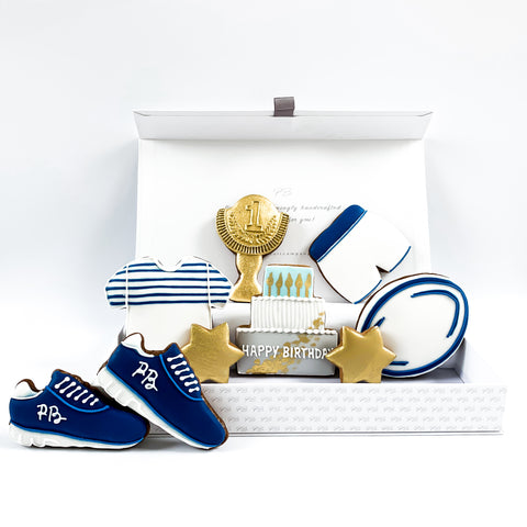 Personalised Rugby Set luxe A4 magnetic box