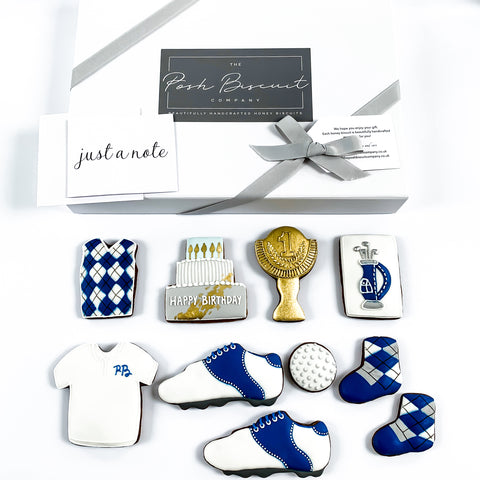 Posh Golf Set luxe A4 magnetic box