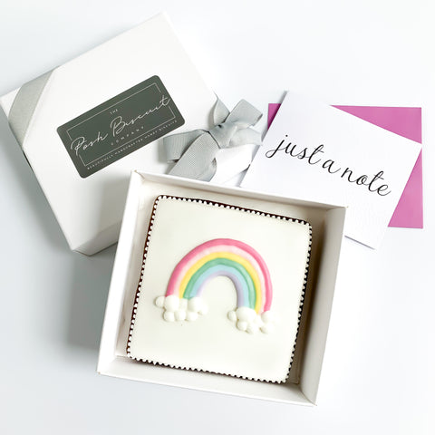 Posh Rainbow Card single biscuit gift box