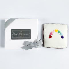 Heart Rainbow Card single biscuit gift box
