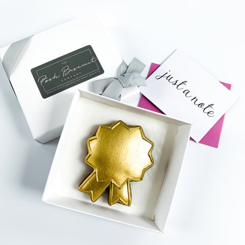 Posh Rosette single biscuit gift box