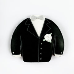 Posh Wedding Jacket single biscuit gift box