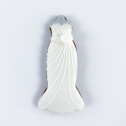 Posh Wedding Dress single biscuit gift box