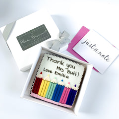 Posh Pencils Card single biscuit gift box