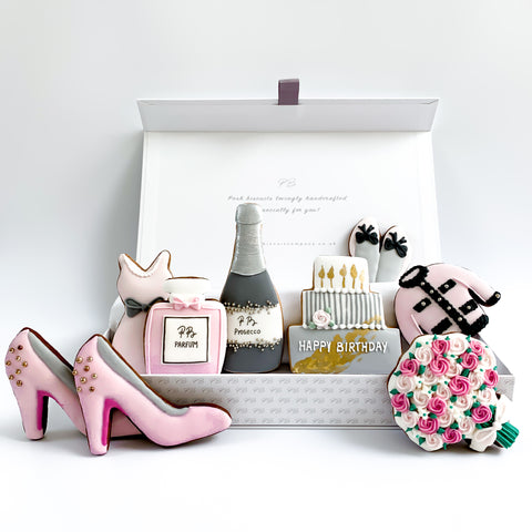 Posh Heels Happy Birthday luxe A4 magnetic box
