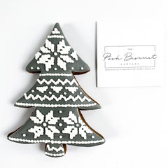 Posh Scandi Tree single biscuit gift box