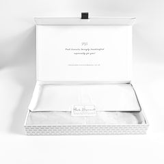Posh Silver Happy Birthday luxe magnetic box