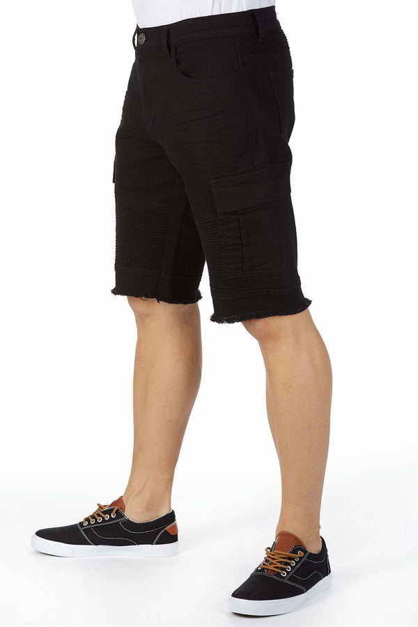 Xray Denim Cargo Shorts (Black)