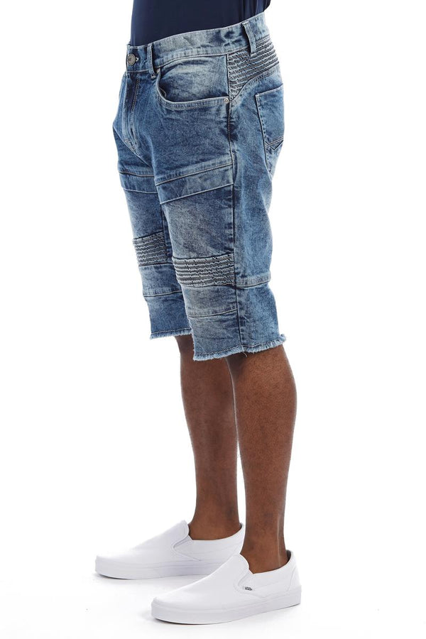 Xray Denim Moto Shorts (Indigo)