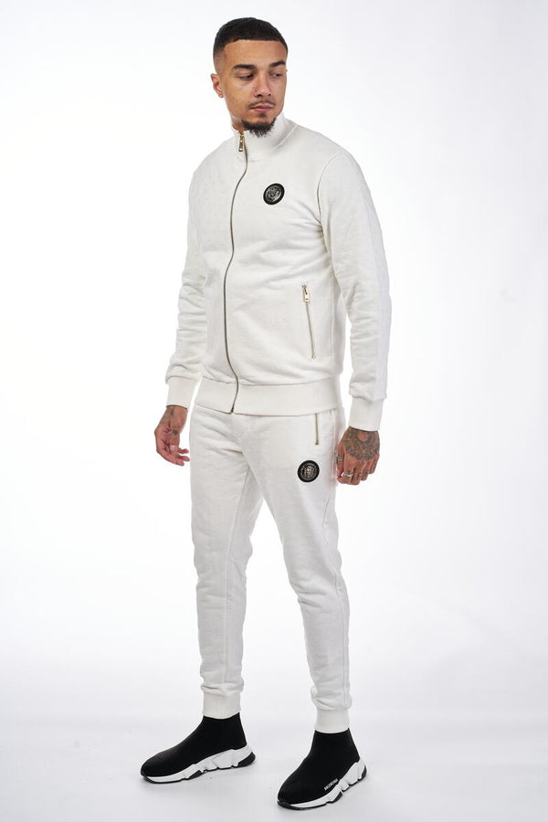 George V Paris All Over Pattern Jacket & Joggers (White)