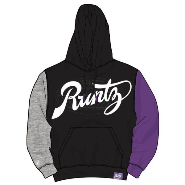 Runtz Divided Worldwide Hoodie (Black/Grey/Purple)