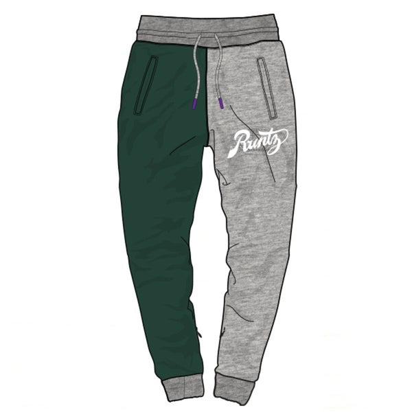 Runtz Divided Worldwide Joggers (Grey/Green/Navy)