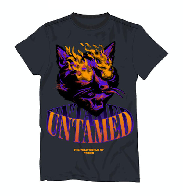 Preme Untamed Cat Shirt (Charcoal)