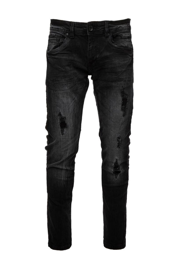 Raw X Rip & Repair Jeans (Black)