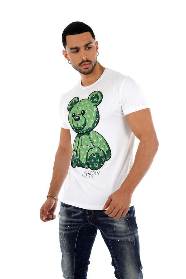 George V Paris Teddy Shirt (White/Green)