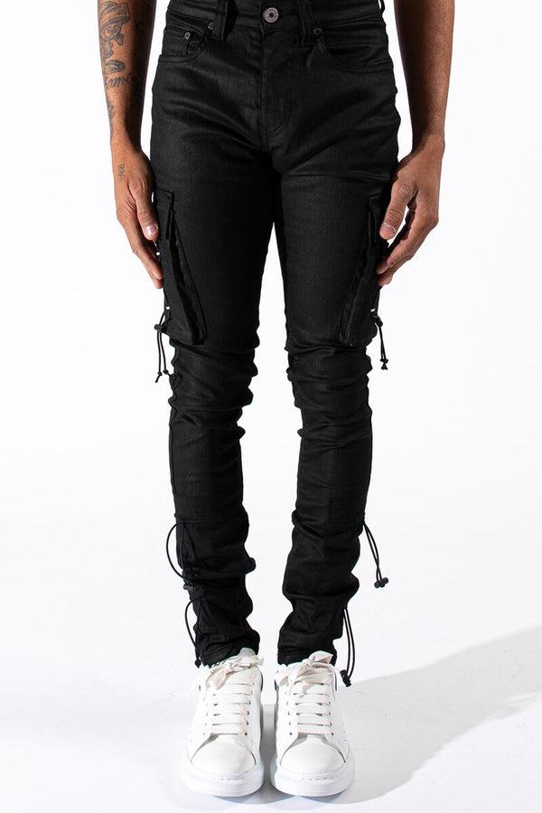 Serenede 1111 Cargo Jeans (Wax Black)