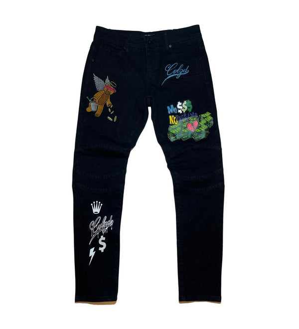 Civilized Money Bear Denim Jean (Black)