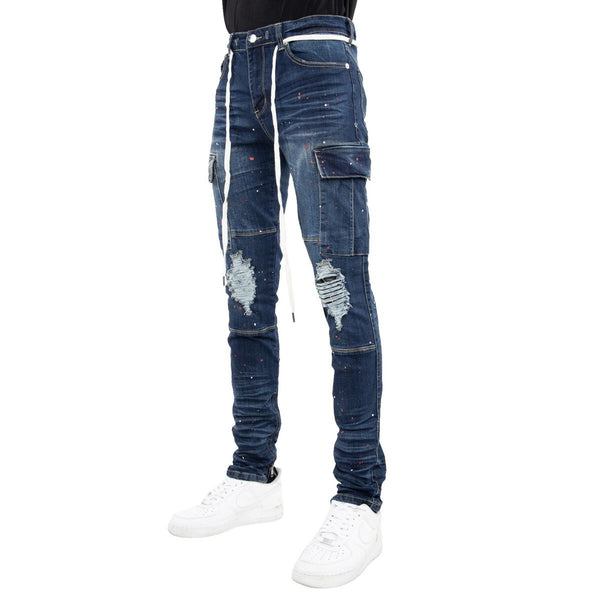 EPTM Outlaw Cargo Denim (Medium Indigo)