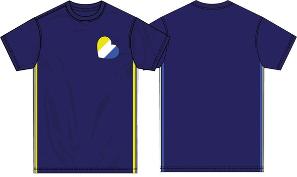 Hudson Dubs Heart Taping Shirt (Royal Blue)