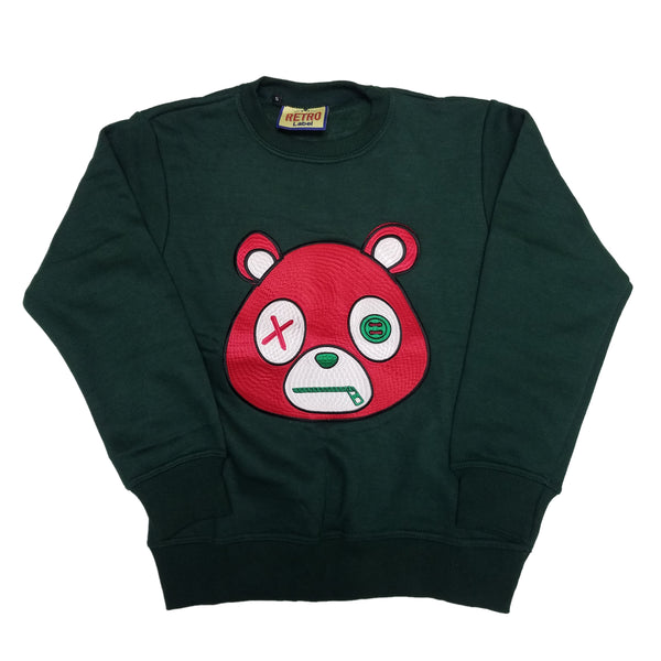 Retro Label Mask Bear Crewneck (Green)