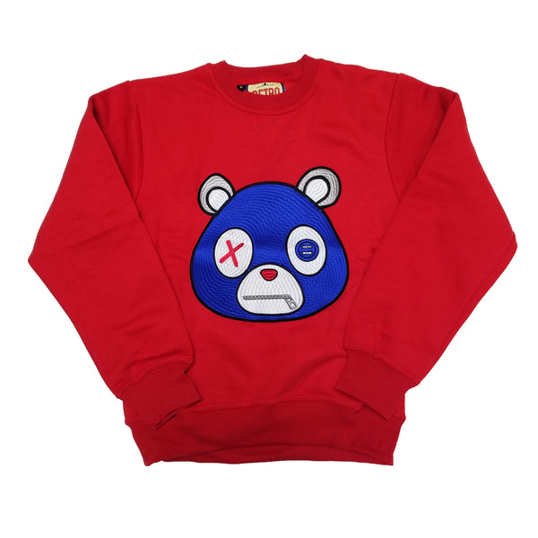 Retro Label Bear Mask Sweatshirt (Red)