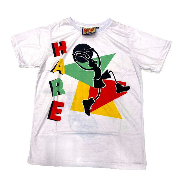 Retro Label Hare Logo Tshirt (White Hare)