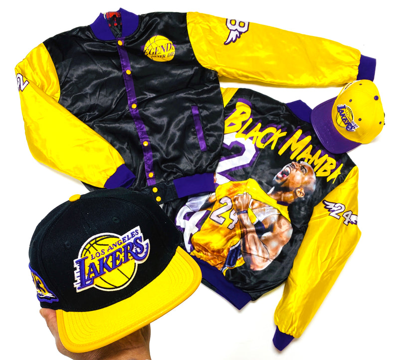 Retro Label Lakers BM Jacket (Black)